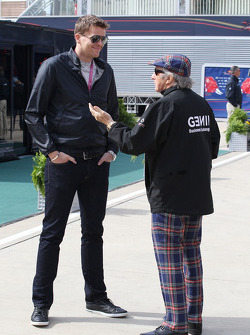 Jake Humphrey, with Jackie Stewart