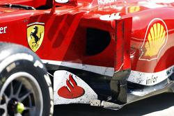Dirty Ferrari F138 of Fernando Alonso Ferrari in parc ferme