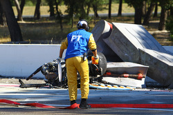 The aftermath of Andrea Mamé's fatal crash