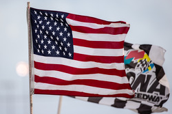 American flag waves at Daytona