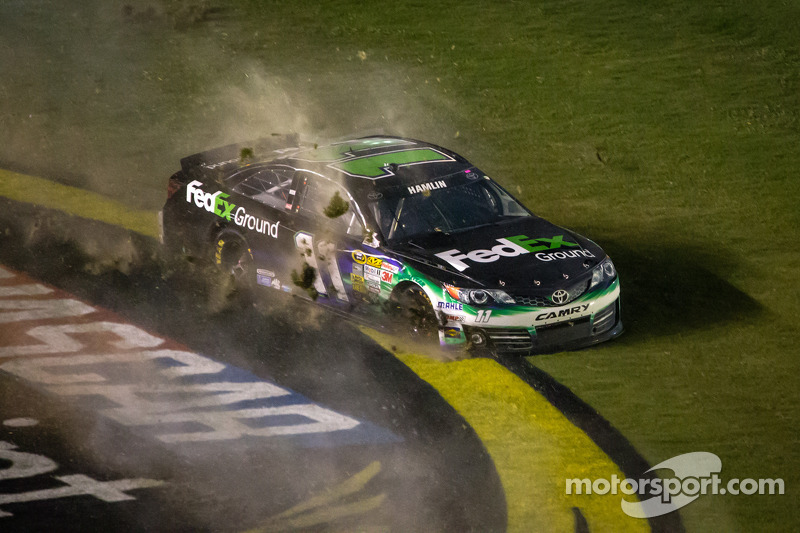 Denny Hamlin, Joe Gibbs Racing Toyota crashes