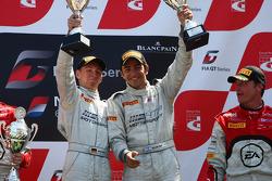 The podium: winners Maximilian Buhk, Alon Day, Mercedes SLS AMG GT3, HTP Gravity Charouz