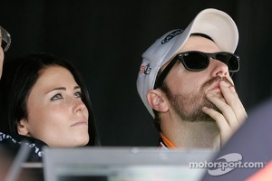 James Hinchcliffe, Andretti Autosport Chevrolet with girlfriend Kristen Dee