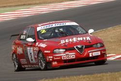 Ex Stefano Modena 1998 Itallian Super Touring Alfa Romeo 156 bestuurd door Neil Smith