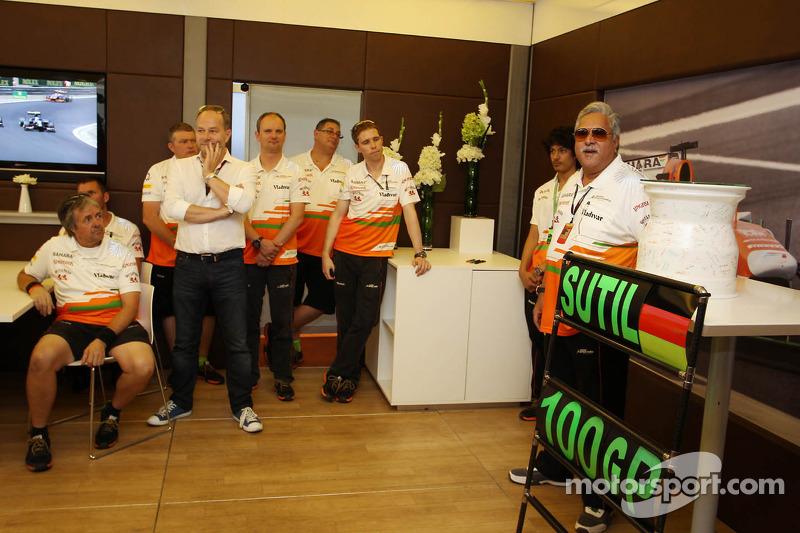 Dr. Vijay Mallya, Sahara Force India F1 Team Owner at a team presentation for Adrian Sutil, Sahara F