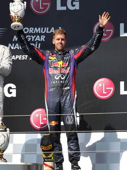 Tercer lugar Sebastian Vettel, Red Bull Racing