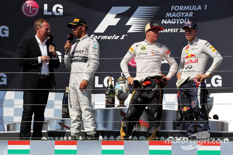 Подіум: 1. Льюіс Хемілтон, Mercedes. 2. Кімі Райкконен, Lotus -Renault. 3. Себастьян Феттель, Red Bull - Renault