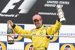Tiago Monteiro, Jordan Toyota EJ15 sur le podium