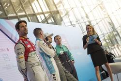 Lucas Di Grassi, Audi Sport ABT Schaeffler, Sebastien Buemi, Renault e.Dams, Nelson Piquet Jr., Jaguar Racing y Luca Filippi, NIO Formula E Team