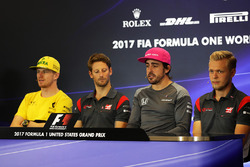 Nico Hulkenberg, Renault Sport F1 Team, Romain Grosjean, Haas F1, Fernando Alonso, McLaren, Kevin Magnussen, Haas F1, Basın Toplantısı