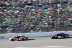 Daniel Suarez, Joe Gibbs Racing Toyota, Reed Sorenson, Premium Motorsports Chevrolet