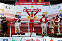 Podium: Race winner #11 Formula Racing Ferrari 488: Nicklas Nielsen, second place #8 Octane 126 Ferrari 488: Fabio Leimer, third place #91 Rossocorsa Ferrari 488: Philipp Baron
