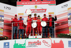Podium Coppa Shell: Ganador, #360 Formula Racing Ferrari 488: Johnny Laursen, segundo #347 Charles Pozzi Ferrari 488: Henry Hassid, tercero #301 Octane 126 Ferrari 488: Fabienne Wohlwend