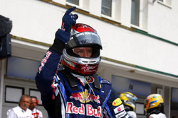 Sebastian Vettel, Red Bull Racing fête sa pole position