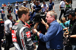 Martin Brundle, Sky TV avec Romain Grosjean, Haas F1
