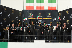 Podium AM: race winners Philipp Wlazik, Florian Scholze, Dörr Motorsport, second place Matej Konopka, ARC Bratislava, third place Mario Cordoni, GDL Racing and LB Cup first place Gerard Van der Horst, Van Der Horst Motorsport, second place Oliver Engelhardt, Dörr Motorsport, third place Tim Richards, Toro Loco
