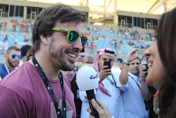 Fernando Alonso con Louise Beckett