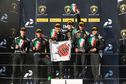 Podium Pro: race winner Raphael Abbate, Yuki Nemoto, VS Racing, second place Axcil Jefferies, Rik Breukers, GDL Racing, third place Patrick Kujala, Richard Antinucci, Bonaldi Motorsport
