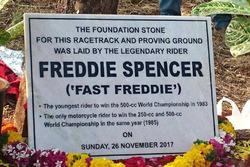 Freddie Spencer foundation stone