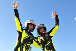 Les vainqueurs, Valentino Rossi et Carlo Cassina, Ford Fiesta WRC