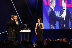 Ben Ainslie speaks to David Coulthard on stage