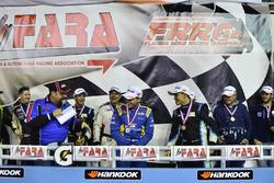 Carter Fartuch, Bart Collins, Mike Menella of TLM Racing, Alan Hellmiester, Adalberto Baptista, Luca Seripiere, Bruno Baptista of MGM Racing, Lino Fayen, Juan Fayen, and Angel Benitez Jr. of Formula Motorsport
