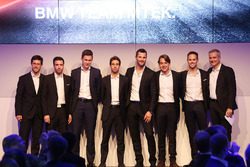 Line-up 2018:, Alexander Sims, Philipp Eng, Nick Catsburg, António Félix da Costa, Martin Tomczyk, Augusto Farfus, Tom Blomqvist en Jens Marquardt, directeur BMW Motorsport.