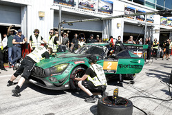 Pitstop, #2 Black Falcon Mercedes-AMG GT3: Abdulaziz Al Faisal, Hubert Haupt, Yelmer Buurman, Gabriele Piana