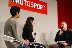 Jamie Chadwick and Enaam Ahmed talk to Henry Hope-Frost on the Autosport Stage