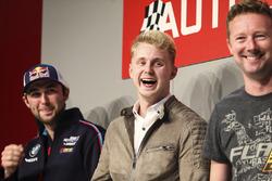 I campioni BTCC Andrew Jordan, Ashley Sutton e Gordon Shedden sull'Autosport Stage