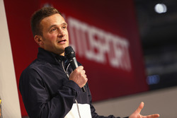 Colin Turkington on the Autosport Stage
