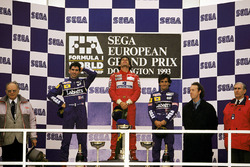 Podium: 1. Ayrton Senna, McLaren; 2. Damon Hill, Williams; 3. Alain Prost, Williams