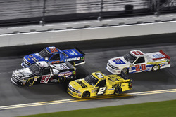 Cody Coughlin, GMS Racing, Jeg's.com Chevrolet Silverado and Joe Nemechek, NEMCO Motorsports, D.A.B. Constructors, Inc. / Fleetwing Chevrolet Silverado