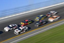 Brad Keselowski, Team Penske Ford Fusion, Kevin Harvick, Stewart-Haas Racing Ford Fusion, Martin Truex Jr., Furniture Row Racing Toyota