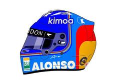 Fernando Alonso helmet unveil