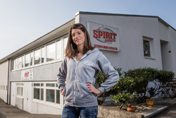 Cyndie Allemann Spirit Karting Besuch