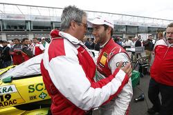 Mike Rockenfeller and Ernst Moser, team boss Audi Sport Team Phoenix