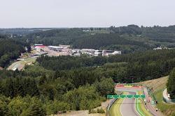 Een luchtshot van het circuit
