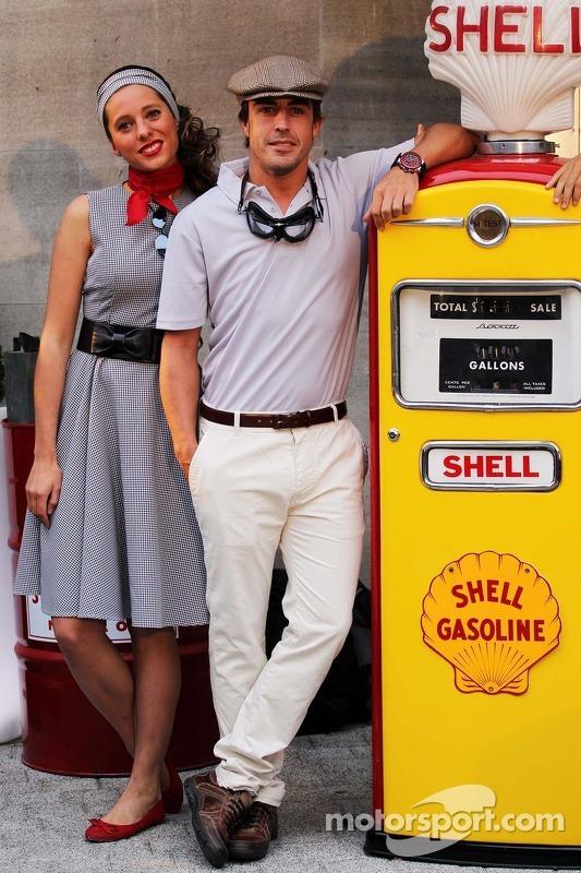 Fernando Alonso, Ferrari no de Volta para o Tempo no Evento da Shell