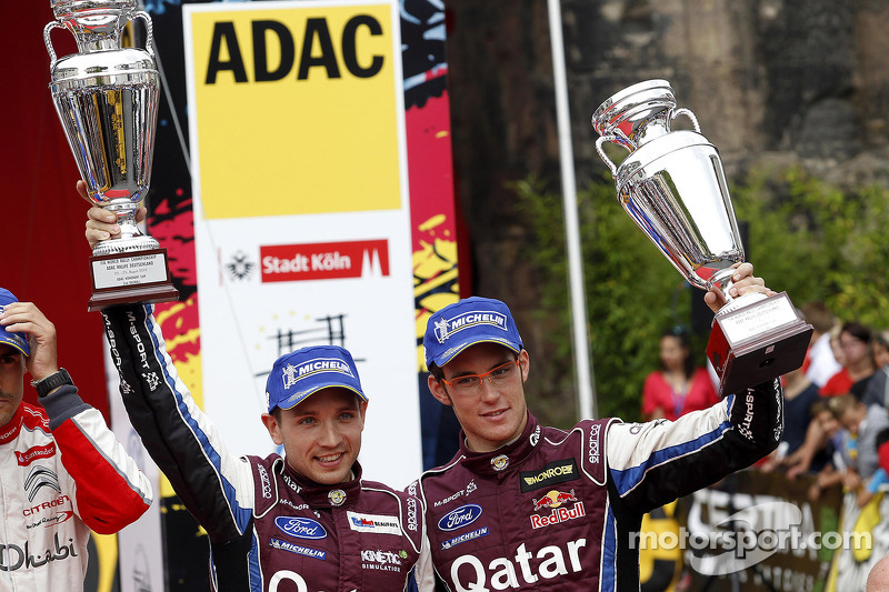 2e plaats Thierry Neuville, Nicolas Gilsoul, Ford Fiesta WRC #11 Qatar World Rally Team