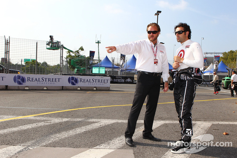 Beau Barfield en Dario Franchitti, Target Chip Ganassi Racing Honda