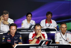 The FIA Press Conference, Mercedes AMG F1 Team Principal; Monisha Kaltenborn, Sauber Team Principal; Graeme Lowdon, Marussia F1 Team Chief Executive Officer; Christian Horner, Red Bull Racing Team Principal; Stefano Domenicali, Ferrari General Director; M