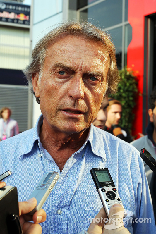 Luca di Montezemolo, Presidente Ferrari com a imprensa