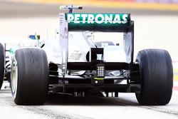 Lewis Hamilton, Mercedes AMG F1 W04 rear diffuser detail