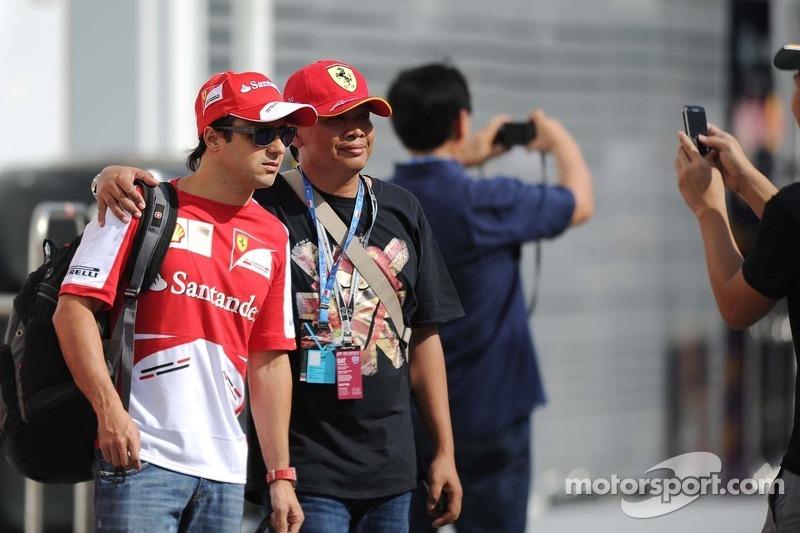 Felipe Massa, Ferrari with fans