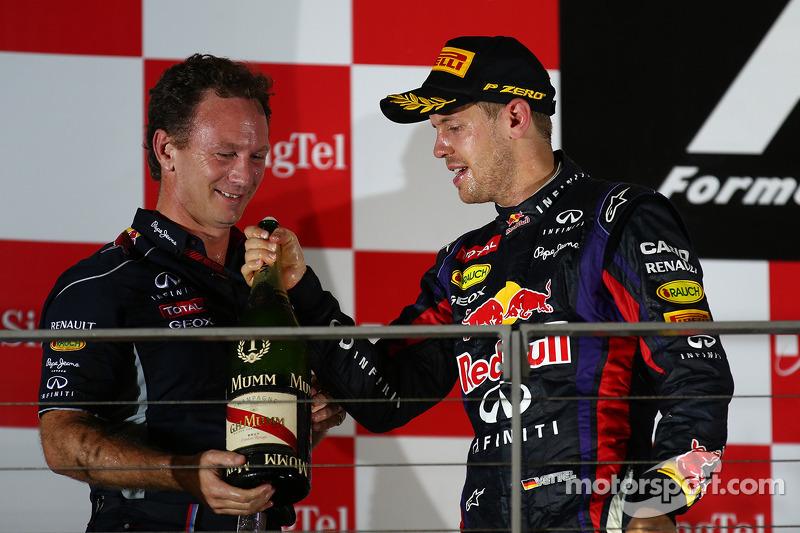 Christian Horner, Teambaas Red Bull Racing en Fernando Alonso, Ferrari