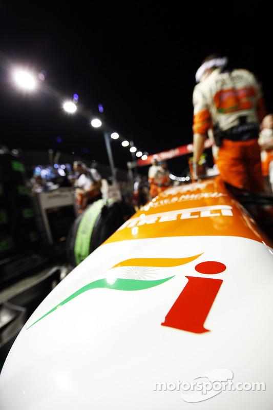 Sahara Force India F1 VJM06 no grid