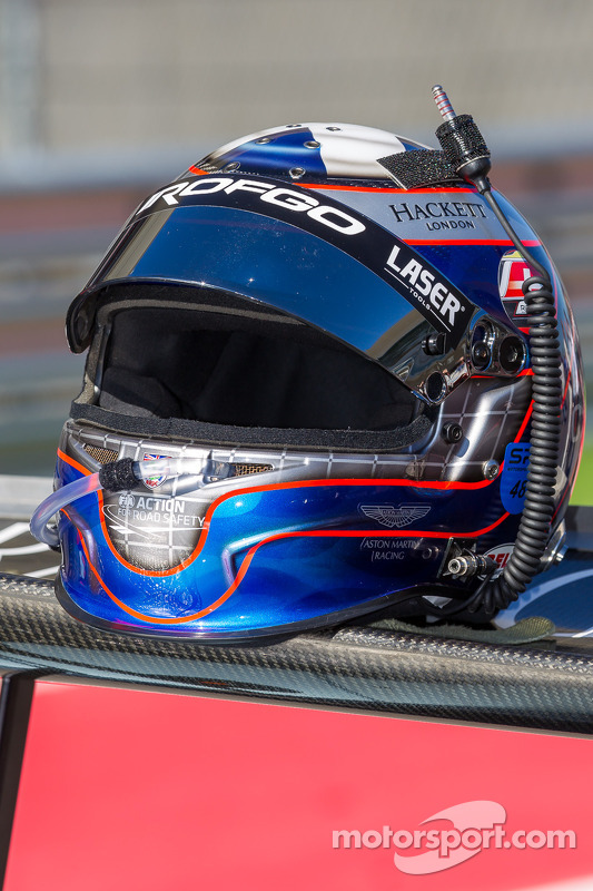 Capacete do Jamie Campbell-Walter