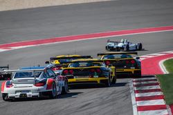 #3 Corvette Racing Chevrolet Corvette C6 ZR1: Jan Magnussen, Antonio Garcia and #06 CORE autosport Porsche 911 GT3 RSR: Patrick Long, Colin Braun