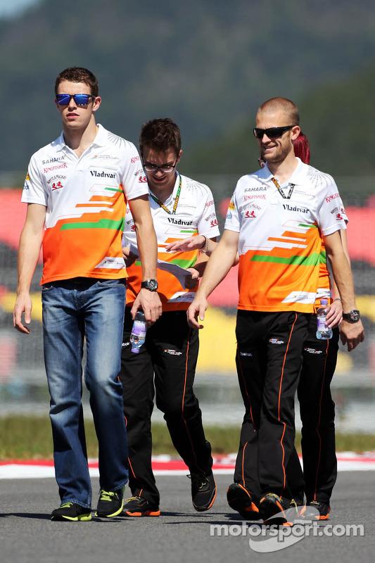 Paul di Resta, Sahara Force India F1 caminha no circuito
